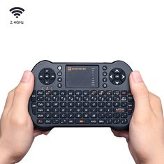 MantisTek MK1 2.4GHz Wireless Mini Keyboard with Touchpad Mouse Remote Control for Android Windows
